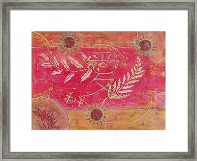 Peace And Love Framed Print by Shannon Crandall