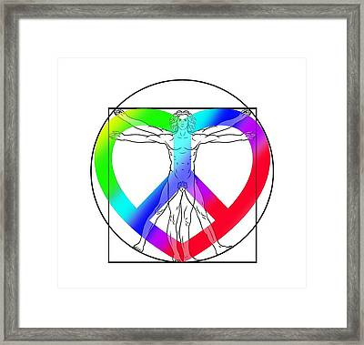 Peace, Love And Hope To Mankind Framed Print