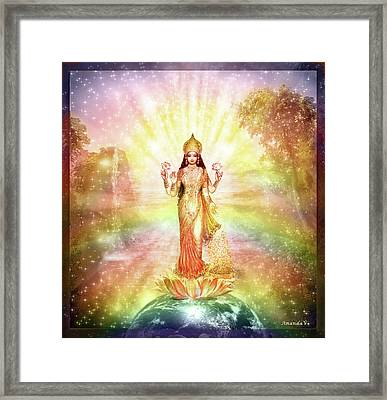 Peace And Prosperity On Earth Framed Print by Ananda Vdovic