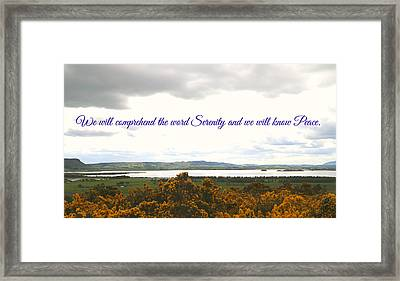 Peace And Serenity Framed Print by Caroline Reyes-Loughrey