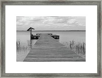 Peace And Serenity II-black And White Framed Print