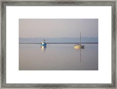 Peace At Anchor Framed Print by Mike  Dawson