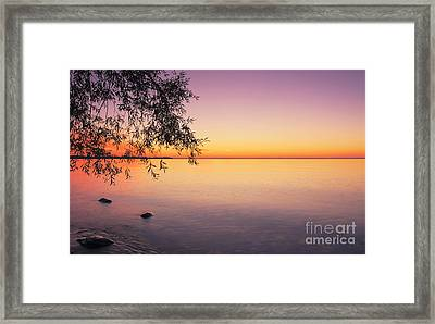Peace At Sunset Framed Print