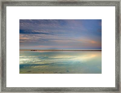 Peace At The Seasunset Framed Print
