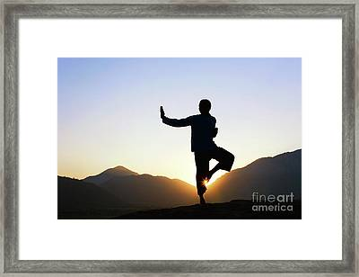 Peace B With U Framed Print by Tim Gainey