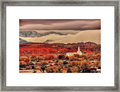 Peace Be Still Framed Print