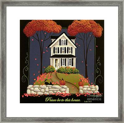 Peace Be To This House Framed Print by Catherine Holman