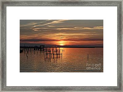Peace Be With You Sunset Framed Print