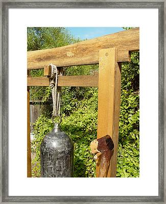 Peace Bell 2nd Image   Sold Framed Print by Steve Mudge