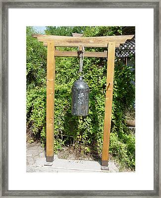 Peace Bell  Sold Framed Print by Steve Mudge
