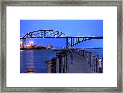 Peace Bridge From Nowak Pier Framed Print