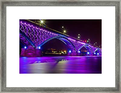 Peace Bridge Led Framed Print