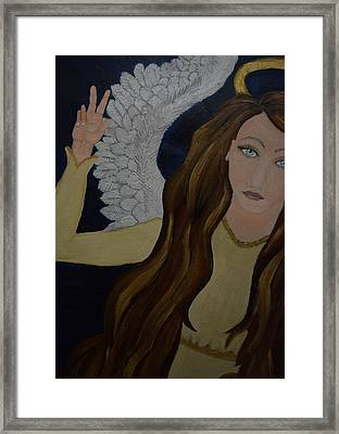 Peace, Brother Framed Print by Wendy Wunstell