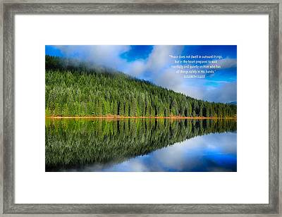 Peace Does Not Dwell Framed Print by Lynn Hopwood