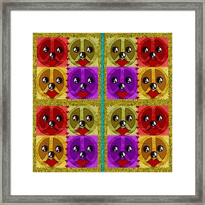 Peace Dogs Framed Print by Pepita Selles