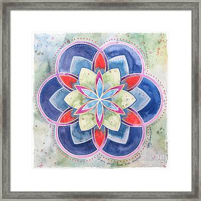 Peace Ease And Comfort Framed Print by Holly Burger