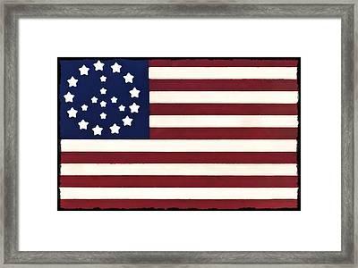 Peace Flag Framed Print by Bill Cannon