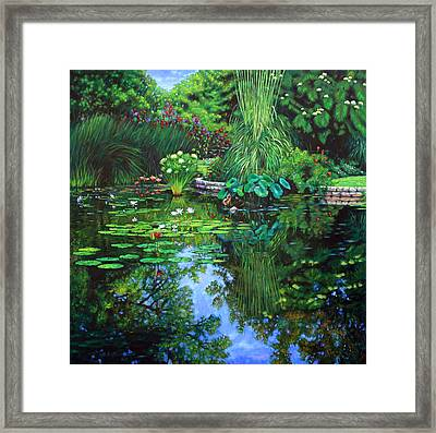 Peace Floods My Soul Framed Print by John Lautermilch