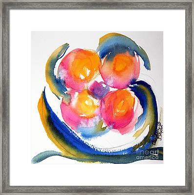 Peace Flower Watercolor Framed Print by CheyAnne Sexton