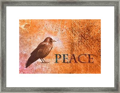 Peace Greeting Card Framed Print