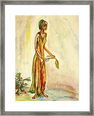 Framed Print featuring the painting Peace by Helena Bebirian