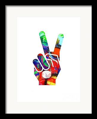 Peace Symbol Framed Prints