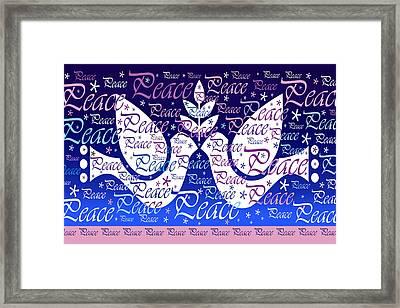 Peace Holiday Card Framed Print