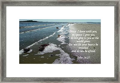 Peace I Leave You Framed Print by Sheri McLeroy