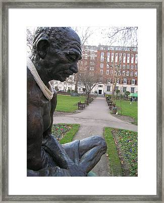Peace In Tavistock Square Framed Print by Jonathan Kotinek