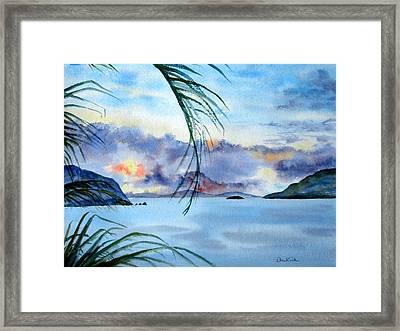 Peace In The Caribbean Framed Print