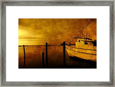 Peace In The Harbor Framed Print