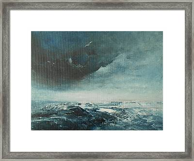 Peace In The Midst Of The Storm Framed Print