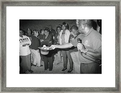Peace In The Streets Of Newark Framed Print by Yuri Lev