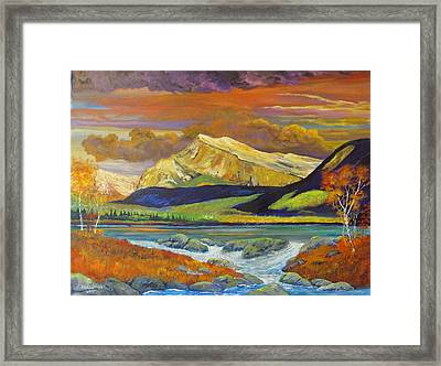 Peace In The Valley Framed Print