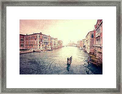 Peace In Venice Framed Print