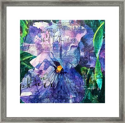 Peace - Iris Framed Print by Trish McKinney