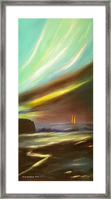 Peace Is Colorful - Vertical Painting Framed Print by Gina De Gorna