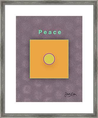 Peace Framed Print by Jack Eadon