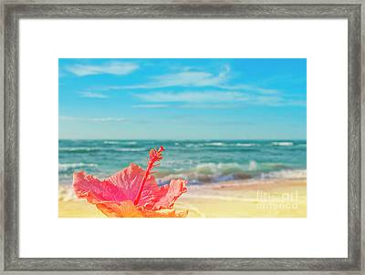 Framed Print featuring the photograph Peace Love And Aloha by Sharon Mau