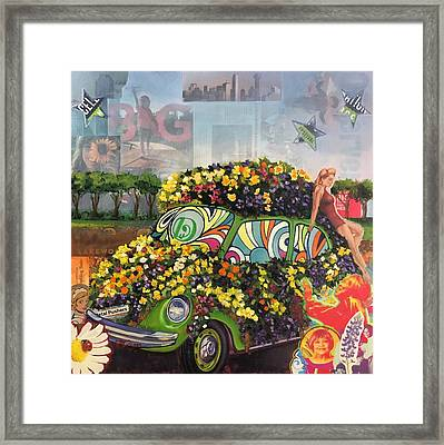 Peace Love And Flowers II Framed Print