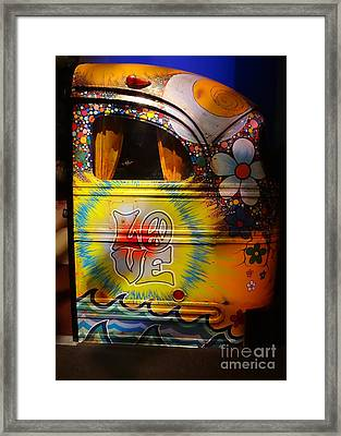 Peace, Love And Rock And Roll Framed Print by Cindy Manero