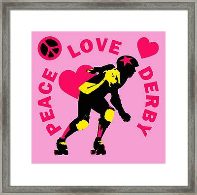 Peace Love Derby Framed Print