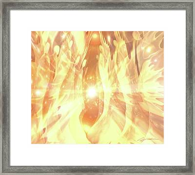 Peace Framed Print by Lucy West