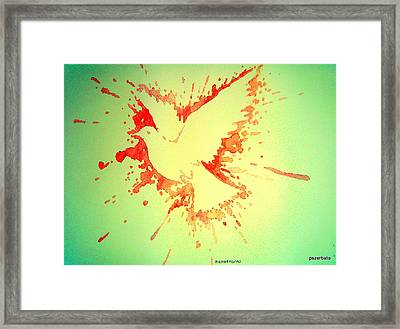 Peace Made By War Framed Print