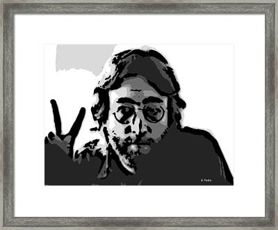 Peace Man Framed Print by George Pedro
