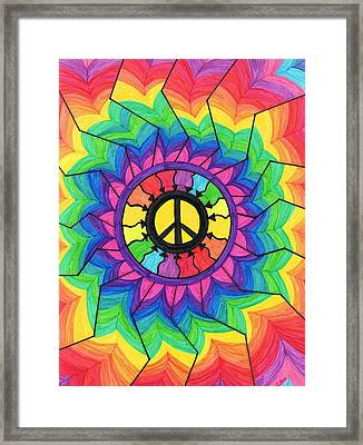 Peace Mandala Framed Print by Cheryl Fox