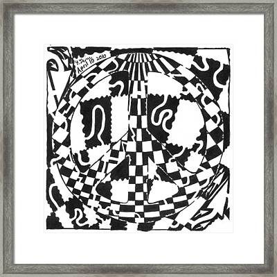 Peace Maze Framed Print by Yonatan Frimer Maze Artist