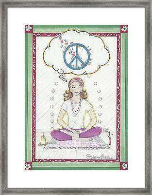 Peace Meditation Framed Print