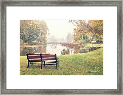 Peace Of Autumn Framed Print by Evelina Kremsdorf