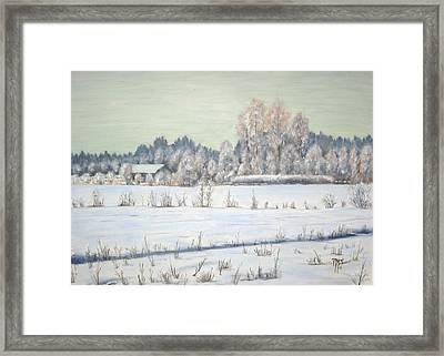 Peace Of The Winter Framed Print by Maren Jeskanen